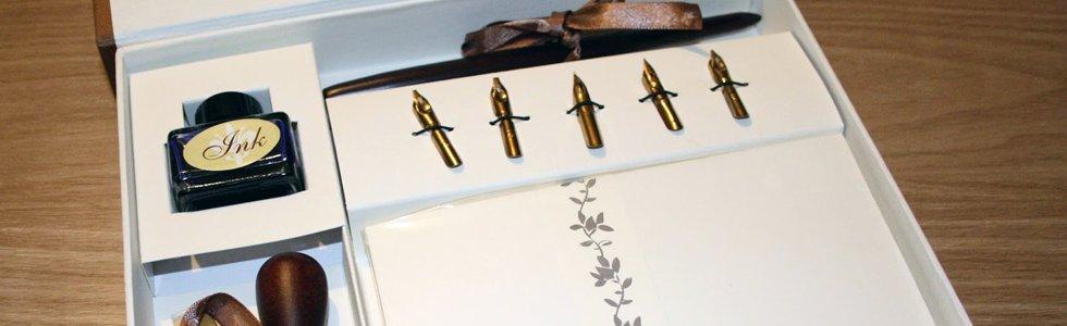Conjuntos e estojos de escrita com tinta