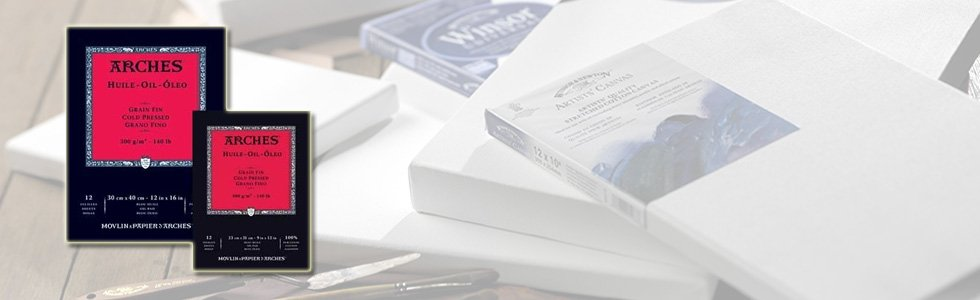 Blocos de papel para tinta acrílica