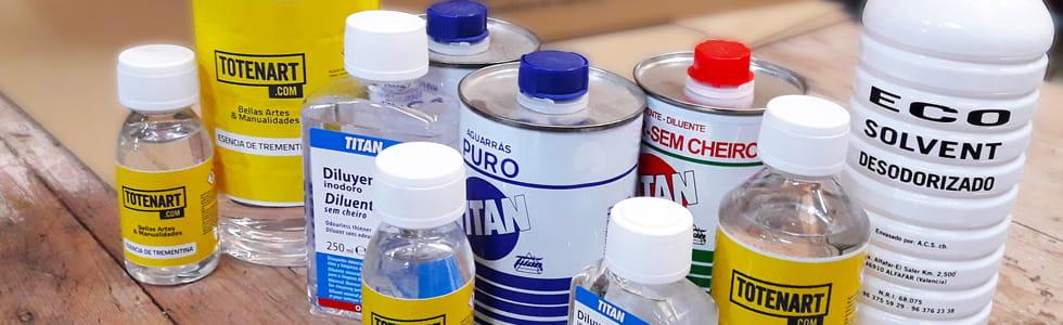 Solventes e diluentes para óleo