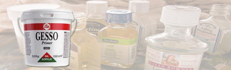 Gessos e imprimações para óleo