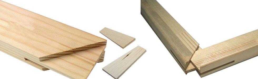 Ripas de madeira para bastidores especiais