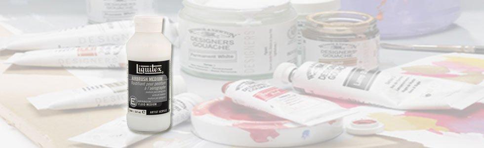 Médiuns e aditivos para gouache