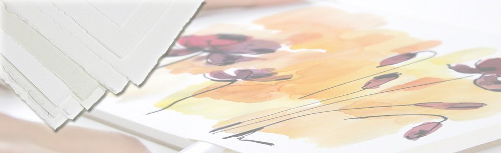 Folhas de papel para pintar com aguarela