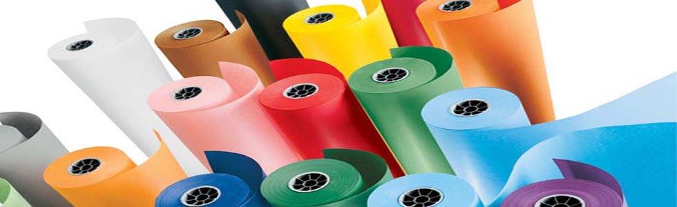 Rolo Kraft de papel colorido