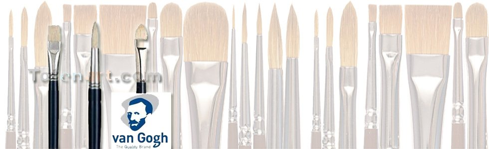 Escovas de cerdas chunking para Acrílico Van Gogh