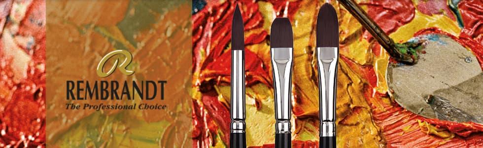 Pincéis sintéticos de cabo longo Rembrandt