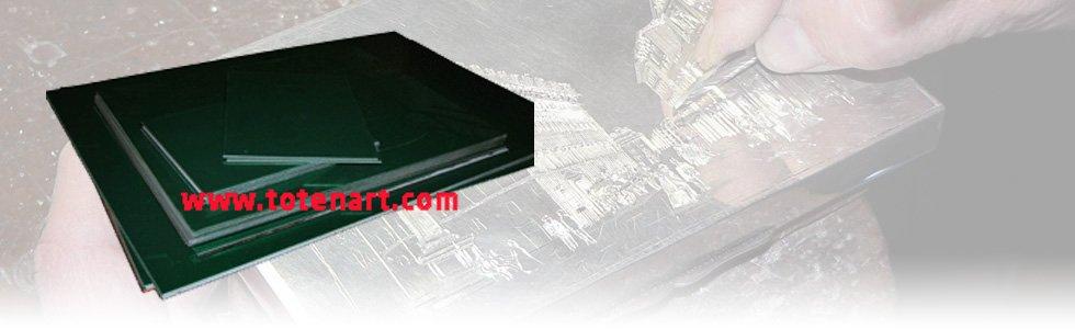 Placas polidas para gravação de zinco
