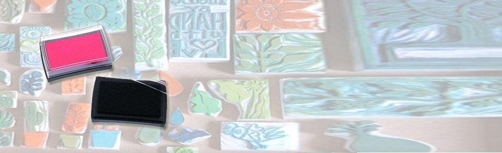 Tintas em tampão de selos