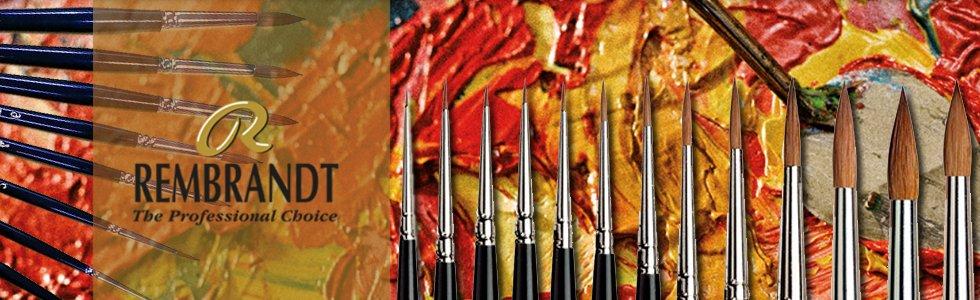 Escovas martas vermelhas com cabo curto Rembrandt