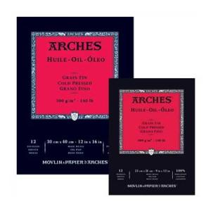 Block Oleo Arches 300 gr, 31x41 cm, G. Fino, block 12 h.