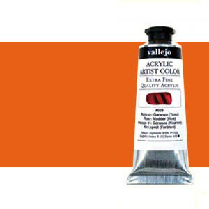 Acrílico Vallejo Artist n. 618 color naranja fluorescente (60 ml)