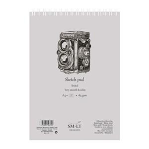Bloco de desenho Bristol, 50 folhas, 185 gr., A4, SM.LT