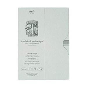 Bloco de desenho Bristol en estojo, 50 folhas, 185 gr., A4, SM.LT