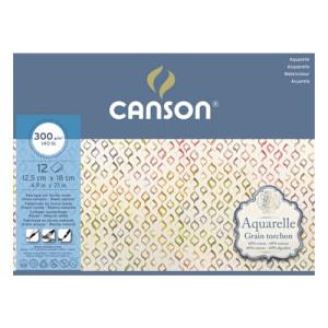 Aguarela Canson 300 gr, 25x36 cm., Gr. Grosso, block 20 f.