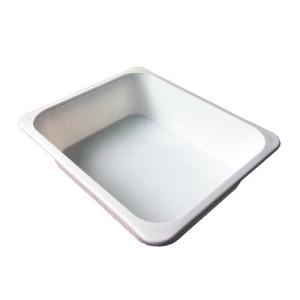 Balde de água em plástico (não adequado para ácidos), 23x28x8 cm.