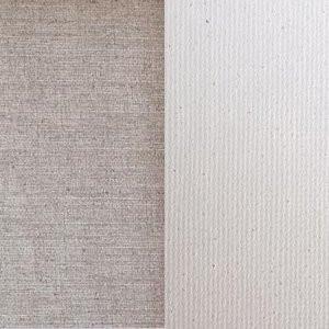 Tela Linho belga Imprimado, 400 gr., Gr. médio, Rolo 2.10x10 m.