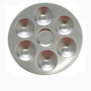 totenart-Paleta redonda de metal, 13,5 cm.