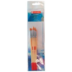 Set 5 escovas Filament, Redondos e Planos, Art Creation