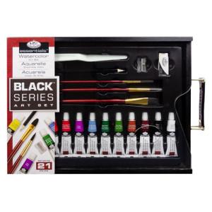 Conjunto de aquarela Sketching Black Series (21 peças), Royal&Langnickel