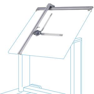 Tecnógrafo de alumínio, 100x170 cm.