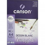Block Imagine Canson, 29.7x42 cm, 200 gr, 50 f.