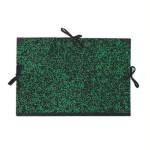 Carpeta dibujo 26x33 cm., Verde con cintas  *