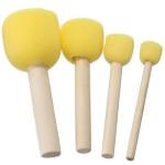 Conjunto de 4 escovas redondas de espuma, Art Creation