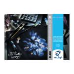 Bloco Postal Papel Aquarela Preto Van Gogh 360 g, 10,5x14,8, 25 folhas, grão fino