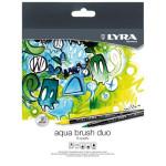 Caso 12 canetas de ponta dupla. Aqua Brush Duo, Lyra