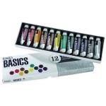 Acrilico Liquitex Basics, caixa cartao 12 col, 22 ml.