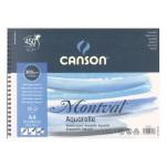 Aquarela Canson Montval 300 gr, 21x29.7, G. Fino, Block 12 f.