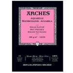 Aquarela Arches 300 gr, 14,8x21 cm (A5), G. Satinado, block 12 f.