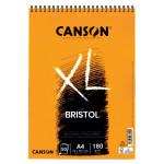Bloco Canson XL de Ilustração Bristol, 50 folhas, 180 g, A4 (anéis)