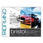 Bloc de ilustración y diseño Bristol Fabriano, 20 hojas, 250gr, 29.7x42cm