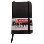 Bloco ArtCreation folhas pretas, 9x14, banda elastica, 80 f, 140 gr.