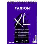 Bloco Canson XL Multitécnica Líquida, 30 folhas, 250 g, A4 (anéis)