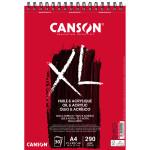 Bloco Canson XL Óleo & Acrílico, 30 folhas, 290 g, A4 (anéis)