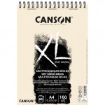 Bloco Canson XL Sand Grain natural, 40 folhas, 160 g, A4 (anéis)