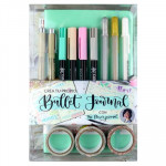 Conjunto crie seu diário Pastel Turquoise, Bullet Journal