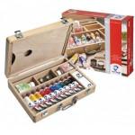 Acrilico Van Gogh, caixa de madeira 10 col.