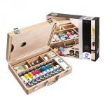Oleo Van Gogh, caixa madeira, 10 cor.