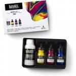 Conjunto de tintas acrílicas Liquitex, 3 cores 30 ml. + Pouring medium 118 ml.