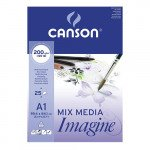 Block Imagine Canson, 59.4x84.1 cm, 200 gr, 25 f.