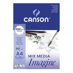 Block Imagine Canson, 21x29.7 cm, 200 gr, 50 f.