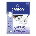 Block Imagine Canson, 14.8x21 cm, 200 gr, 50 f.