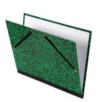 Carpeta dibujo con gomas 26x33 cm, verde