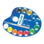 Caixa Aquarela Milan 12 cores 25mm. & pincel