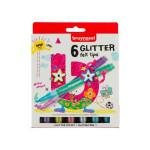 Estojo 6 Marcadores glitter Bruynzeel