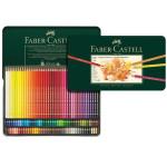Caixa metal Lápis Cor POLYCHROMO, Faber Castell (120 cores)
