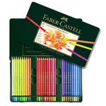 Caixa metal Lápis Cor POLYCHROMO, Faber Castell (60 cores)